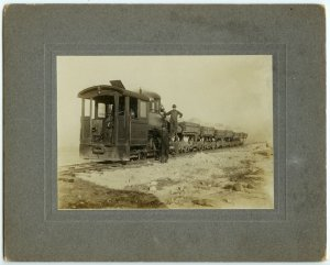 Early Train Silver Photograph