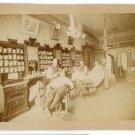 Barber Shop Interior Albumen Photograph