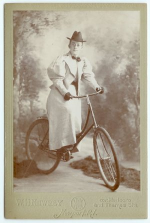 Female Bicycle Rider Cabinet Card