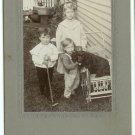 Dog and Three Children