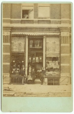 Clothing Store Exterior Cabinet Card