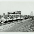 Burlington Locomotive Silver Photograph