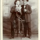Men with a Racing Form Cabinet Card