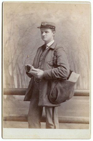 Postman Cabinet Card