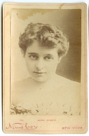 Newsboy Cabinet Card of Actress Hope Booth