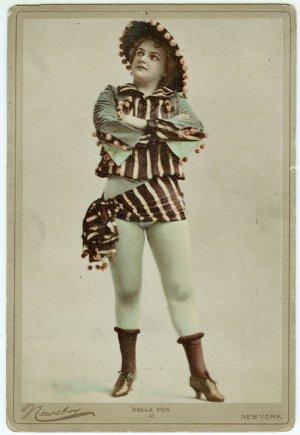 Colored Oversize Newsboy of Della Fox