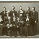 Superior Cabinet Card: Singers and Violinists