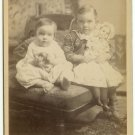 Sister and Brother with Toy Doll Cabinet Card