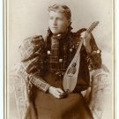 A Woman and Her Mandolin Cabinet Card