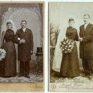 The Bride Wore Black - German Wedding Cabinet Card