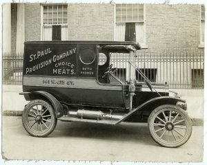 Delivery Van Silver Photograph