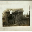 Boy on a Horse Silver Photo