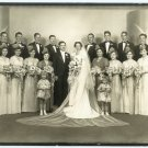 Large Wedding Party Silver Photograph