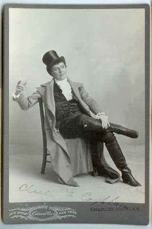 Autographed Actor Cabinet Card - Charles Coghlan
