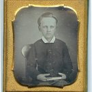Daguerreotype of a Rosy Cheeked Young Boy