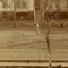Tennis Game Albumen Photograph