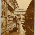 Bridge of Sighs Gold-Toned Silver Photograph