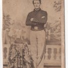 Armed Civil War Soldier with Eagle Buckle CDV
