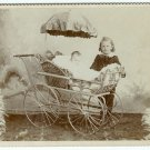 Two Cabinet Cards: Kids and Wicker