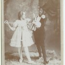 Patriotic Theatrical Cabinet Card of Two Girls