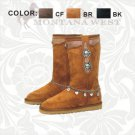 Western Fashion Boots - Suede with Rhinestones & Conchos - Montana West Brand