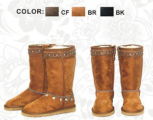 Western Fashion Boots - Suede with Braided Tops - Montana West Brand