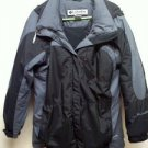 Columbia Womens Winter Jacket Coat Black Grey Large Pre Owned - Excellent Cond