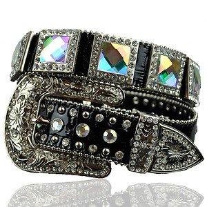 Beautiful Blinged Out Cowgirl Western Belt AB Crystal Rhinestones Prism Cut XL
