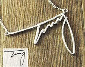 Personalized Silver Namecharm Signature