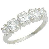 Diamond CZ Anniversary Ring