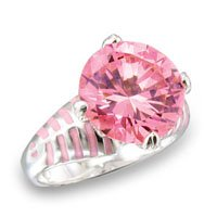 12mm Pink / Rose CZ Ring