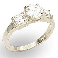 6mm 3 Stone CZ Ring