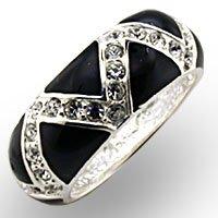 Black & Swarovski Crystal Ring