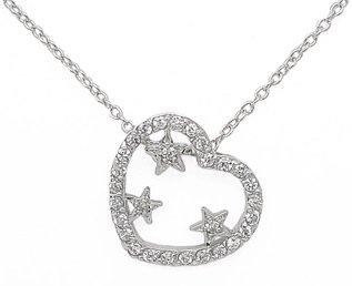 Heart w/ Stars Necklace