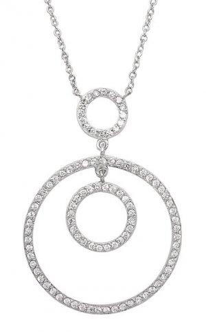 Triple Circle CZ Necklace