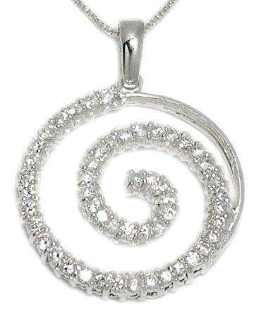 CZ Journey & Swirl Necklace