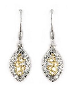 Two Tone Marquise Earrings