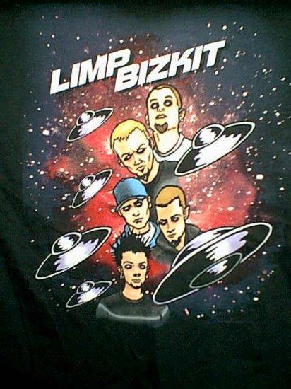 Limp Bizkit T-Shirt Spacey Logo Black Size XL