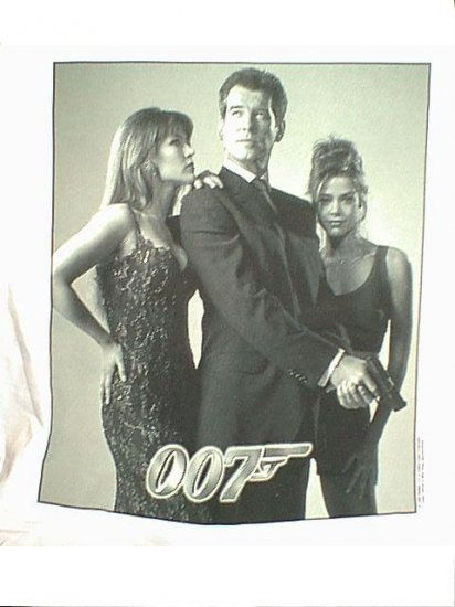 James Bond T-Shirt 007 Bond Girls White Size Large