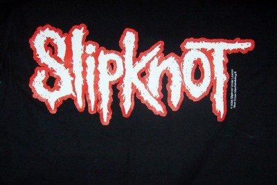 Slipknot T-Shirt Letters Logo Black Size Medium CLEARANCE