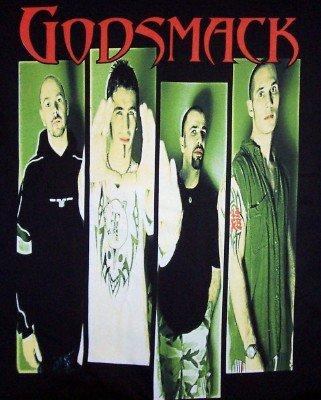 Godsmack T-Shirt Group Photo Black Size Medium