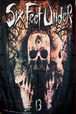 Six Feet Under Poster Flag Skulls Logo Tapestry