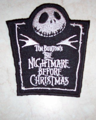 Nightmare Before Christmas Iron-On Patch Jack Logo