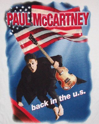 Paul McCartney T-Shirt Back in the US White Size XXL