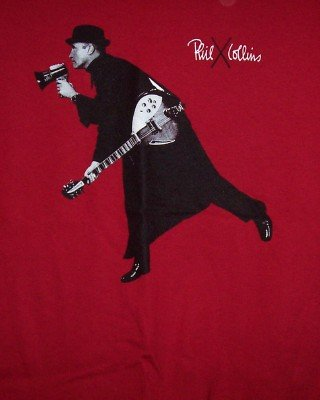 Phil Collins T-Shirt 1st Final Farewell Tour Red Size Small