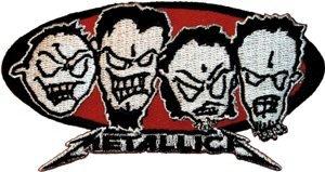 Metallica Iron-On Patch Metal Heads Logo
