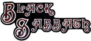 Black Sabbath Iron-On Patch Letters Logo