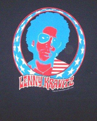 Lenny Kravitz T-Shirt North American Tour Navy Blue Size XL