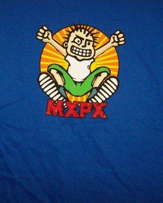 MXPX T-Shirt Jumper Logo Blue Size Large