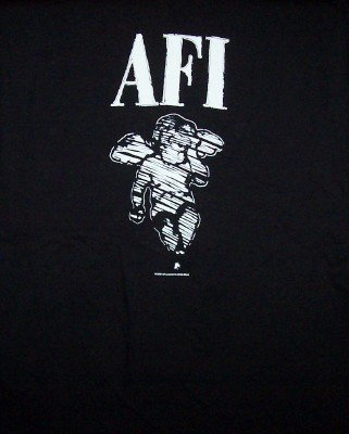 AFI T-Shirt Angel Logo Black Size Small